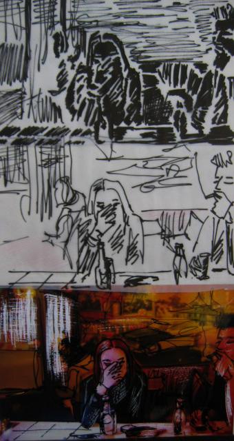 Apéro - Feutre, peinture, photo stylo
