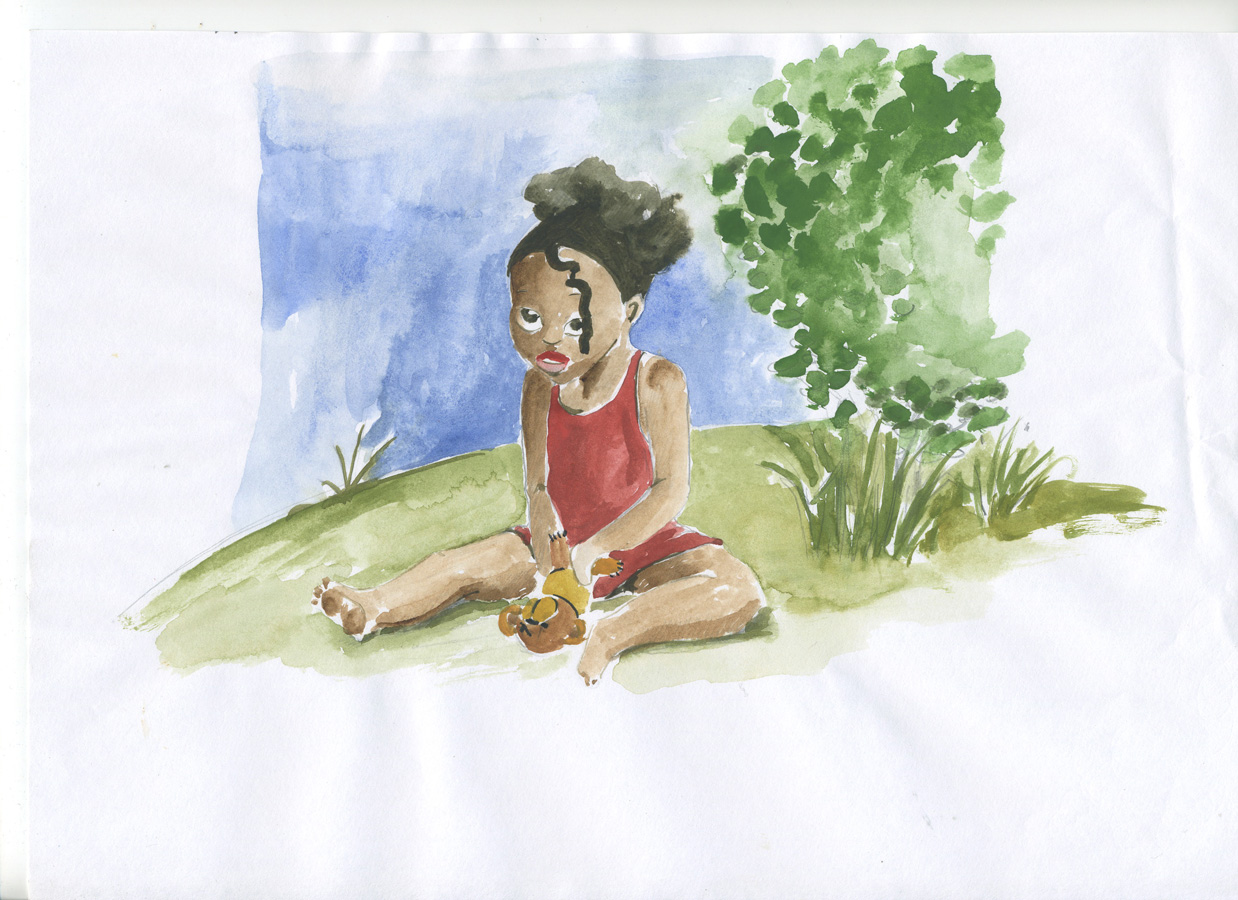 Fillette - Aquarelle