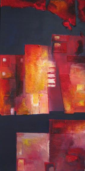 Triptyque en ville - Acrylique - VENDU