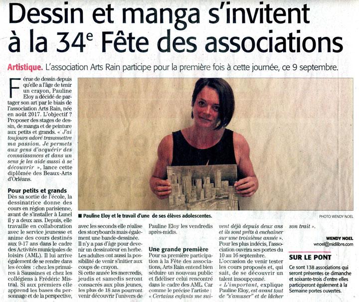 Pauline Eloy-Article Midi Libre 07/09/2018