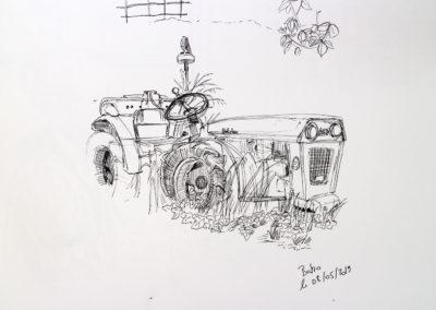 Tracteur - feutre fin