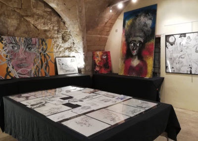 exposition à Sommieres, juillet 2019