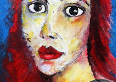 Femme fouettée - Huile sur toile - 97 x 130 cm