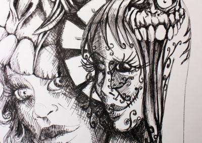 A vif - Pauline Eloy - feutre fin noir - A4