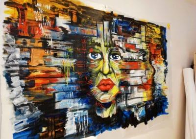 Réflexions - Acrylique sur toile